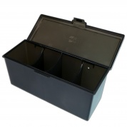 Blackfire 4-Compartment Storage Box - Black