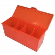 Blackfire 4-Compartment Storage Box - Red