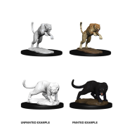 D&D Nolzur's Marvelous Miniatures: Panther & Leopard (6 Units)