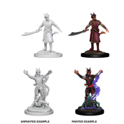 D&D Nolzur's Marvelous Miniatures: Male Tiefling Warlock (6 Units)