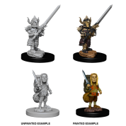 D&D Nolzur's Marvelous Miniatures: Male Halfling Fighter (6 Units)