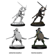 Pathfinder Battles Deep Cuts Unpainted Miniatures - Female Elf Fighter (6 Units)