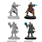 Pathfinder Battles Deep Cuts Unpainted Miniatures - Male Human Wizard (6 Units)