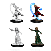 Pathfinder Battles Deep Cuts Unpainted Miniatures - Female Human Wizard (6 Units)