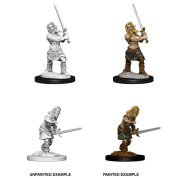 Pathfinder Battles Deep Cuts Unpainted Miniatures - Male Human Barbarian (6 Units)