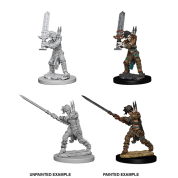 Pathfinder Battles Deep Cuts Unpainted Miniatures - Female Human Barbarian (6 Units)