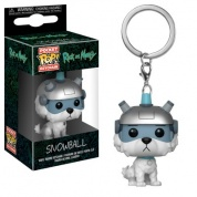 Funko POP! Keychain - Rick and Morty - Snowball Vinyl Figure 4cm