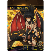 Tokens for MTG - 3/3 Cat Dragon Token (10 pcs)