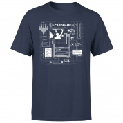 Magic The Gathering Card Grid T-Shirt - Navy - XXL