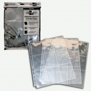Blackfire 9-Pocket Pages - Clear - Side Loading (50 pcs)