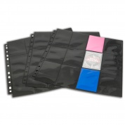 Blackfire 24-Pocket Pages - Black - Top Loading (10 pcs)