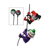 DC Comics - 2 Pack of 5cm Characters with Custom Earbuds Joker and Harley