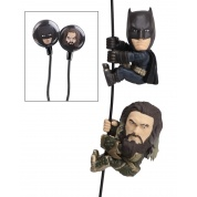 DC Comics - 2 Pack of 5cm Characters with Custom Earbuds Batman and Aquaman