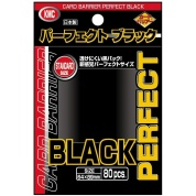 KMC Standard Sleeves - Perfect Black (80 Sleeves)