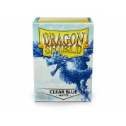 Dragon Shield Standard Sleeves - Matte Clear Blue (100 Sleeves)