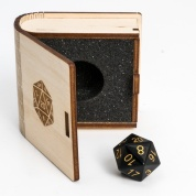 Blackfire Gemstone Collectors Dice - Black Obsidian