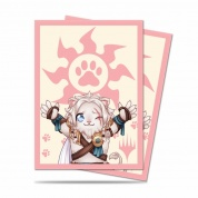 UP - Standard Deck Protector - Chibi Collection Ajani - Lion Hug for Magic (100 Sleeves)