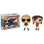Funko POP! 2-Pack: Capcom vs. Marvel: Captain Marvel vs Chun-Li Vinyl Figures 10cm Limited