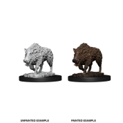 WizKids Deep Cuts Unpainted Miniatures - Wild Boar (6 Units)