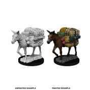 WizKids Deep Cuts Unpainted Miniatures - Pack Mule (6 Units)