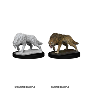 WizKids Deep Cuts Unpainted Miniatures - Timber Wolves (6 Units)