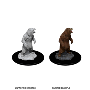WizKids Deep Cuts Unpainted Miniatures - Grizzly (6 Units)