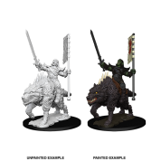 Pathfinder Battles Deep Cuts Unpainted Miniatures - Orc on Dire Wolf (6 Units)