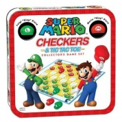 Super Mario Combo Checkers/Tic Tac Toe (Tin) - EN