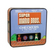 Super Mario Bros Classic Combo Checkers/Tic Tac Toe (Tin) - EN