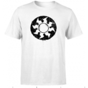 Magic The Gathering White Mana Splatter Men's T-Shirt - White - S