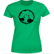 Magic The Gathering Green Mana Splatter Women's T-Shirt - Kelly Green - XXL