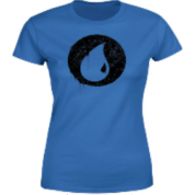 Magic The Gathering Blue Mana Splatter Women's T-Shirt - Royal Blue - S