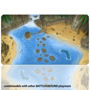 Blackfire Playmat - Battleground Edition Island - Ultrafine 2mm