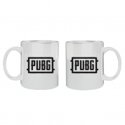 Playerunknown's Battlegrounds - Mug Battlegrounds Logo White