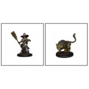 WizKids Wardlings Painted RPG Figures: Girl Witch & Witch's Cat (6 Units)