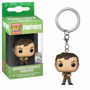 Funko POP! Keychain Fortnite - Highrise Assault Trooper Vinyl Figure 4cm