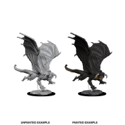 D&D Nolzur's Marvelous Miniatures - Young Black Dragon (6 Units)