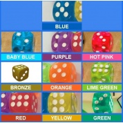 Tumblin' Dice Additional Dice Pack - Baby Blue (Set of 4)