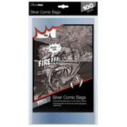 UP - Comic Bags - Silver Size (100 Bags)