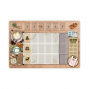 "Seize the Bean: Linen Play Mat ""Woodtisch"" Edition"