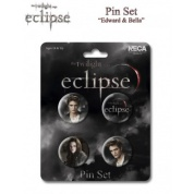 Twilight Eclipse Pin Set Edward & Bella (4)