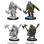 D&D Nolzur's Marvelous Miniatures - Male Half-Orc Barbariann (6 Units)