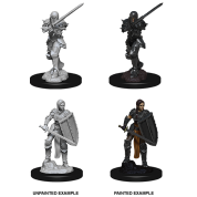 D&D Nolzur's Marvelous Miniatures - Female Human Fighter (6 Units)