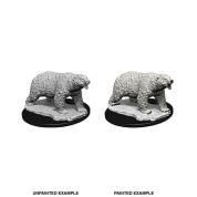 WizKids Deep Cuts Unpainted Miniatures - Polar Bear (6 Units)