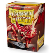 Dragon Shield Matte Sleeves - Ruby (100 Sleeves)