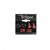 Twilight Eclipse Pack of Stud Earrings Team Jacob