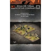Flames of War: 82mm or 120mm Mortar Company (3+3 of each team Plastic)