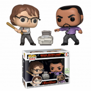 Funko POP! Office Space - Samir and Michael 2-pack Vinyl Figures 10cm ECCC 2019 Limited