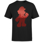 Nintendo Super Mario Silhouette Men's T-Shirt - Black - L