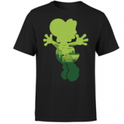 Nintendo Super Mario Yoshi Silhouette Men's T-Shirt - Black - XL